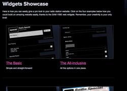 Radio.Spacial widget gallery