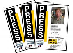 WKZO press passes